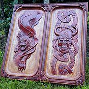 Сувениры и подарки handmade. Livemaster - original item Backgammon - Wolf, 60 x 60 cm, handmade.. Handmade.