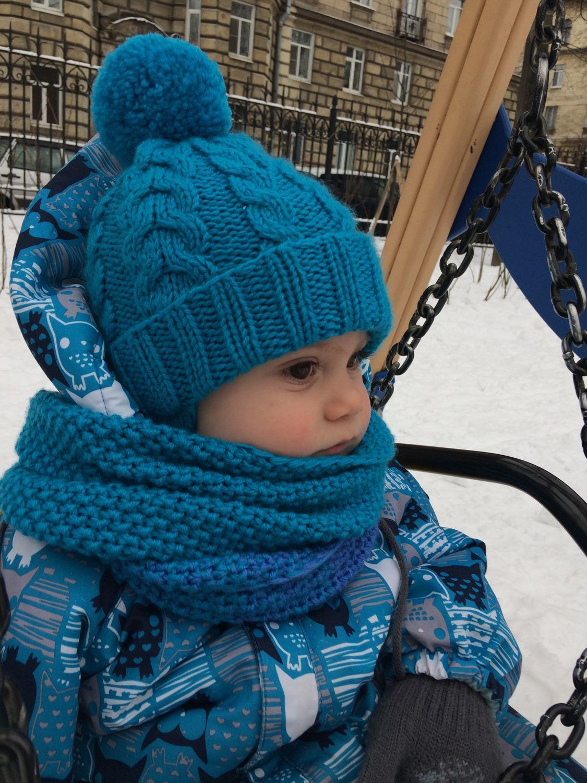 Шапки и шарфы для мальчиков вязание 27