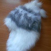 Аксессуары ручной работы. Ярмарка Мастеров - ручная работа Шапка из пуха кролика ушанка. Handmade.