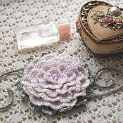 Украшения ручной работы. Ярмарка Мастеров - ручная работа Браслет цветок вязаный в стиле Бохо Розовая мечта. Handmade.