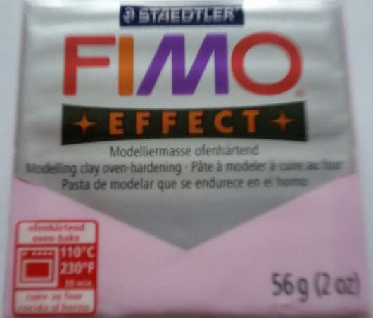 Для украшений ручной работы. Ярмарка Мастеров - ручная работа. Купить Розовый (205) - Fimo Effect Pastel. Handmade.