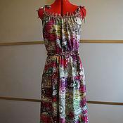 Одежда ручной работы. Ярмарка Мастеров - ручная работа Сарафан хлопок ягода. Handmade.