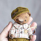 Куклы и игрушки ручной работы. Ярмарка Мастеров - ручная работа Андрейка мишка тедди 13см. Handmade.