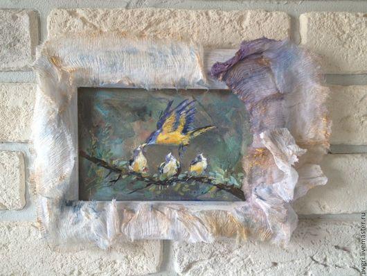 """Животные ручной работы. Ярмарка Мастеров - ручная работа. Купить Картина """"Легкость"""".. Handmade. Разноцветный, авторская живопись, белый"""