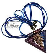 Украшения handmade. Livemaster - original item Pendant made of polymer clay magic fern (344). Handmade.