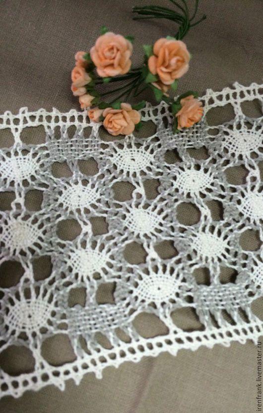 Другие виды рукоделия ручной работы. Ярмарка Мастеров - ручная работа. Купить Кружево лен 8 см. Handmade. Лен