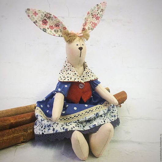 Куклы Тильды ручной работы. Ярмарка Мастеров - ручная работа. Купить Зайка тильда, текстильная игрушка.. Handmade. Кукла интерьерная