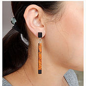 Украшения handmade. Livemaster - original item Long rectangular earrings.. Handmade.