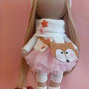 Куклы и игрушки ручной работы. Ярмарка Мастеров - ручная работа Интерьерная текстильная кукла большеножка Лисичка. Handmade.