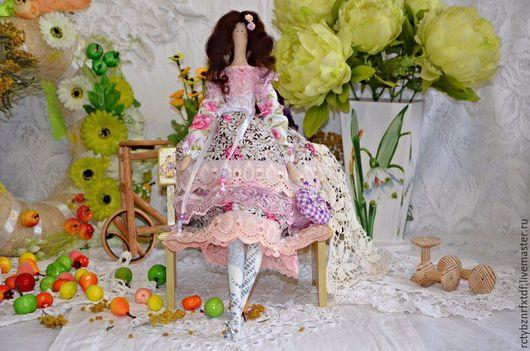 Куклы Тильды ручной работы. Ярмарка Мастеров - ручная работа. Купить Тильда кукла Марлена текстильная, интерьерная.. Handmade. Брусничный