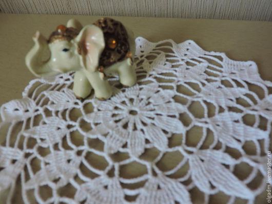 Текстиль, ковры ручной работы. Ярмарка Мастеров - ручная работа. Купить Салфетка крючком №19. Handmade. Белый, Вязание крючком
