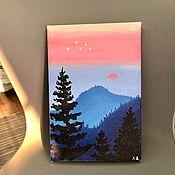 Картины ручной работы. Ярмарка Мастеров - ручная работа На закате. Handmade.