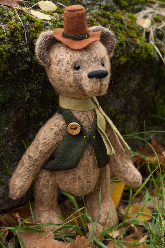 Мишки Тедди ручной работы. Ярмарка Мастеров - ручная работа. Купить Падди ирландец. Коллекционный мишка. Handmade. Зеленый