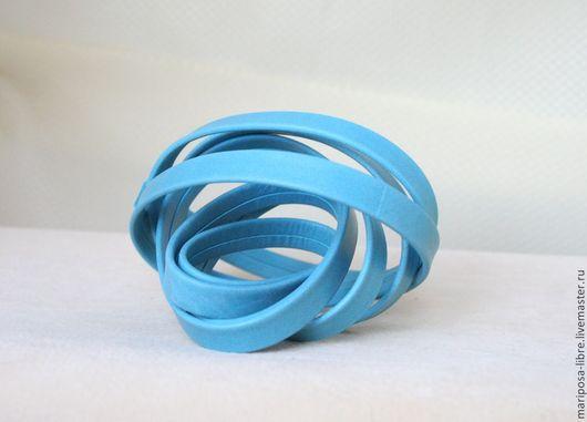 Для украшений ручной работы. Ярмарка Мастеров - ручная работа. Купить Шнур 10х2 мягкий голубой. Handmade. Бирюзовый
