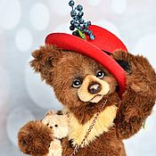 Куклы и игрушки handmade. Livemaster - original item Big teddy bear Oscar 16 in (40 cm) collectible bear. Handmade.