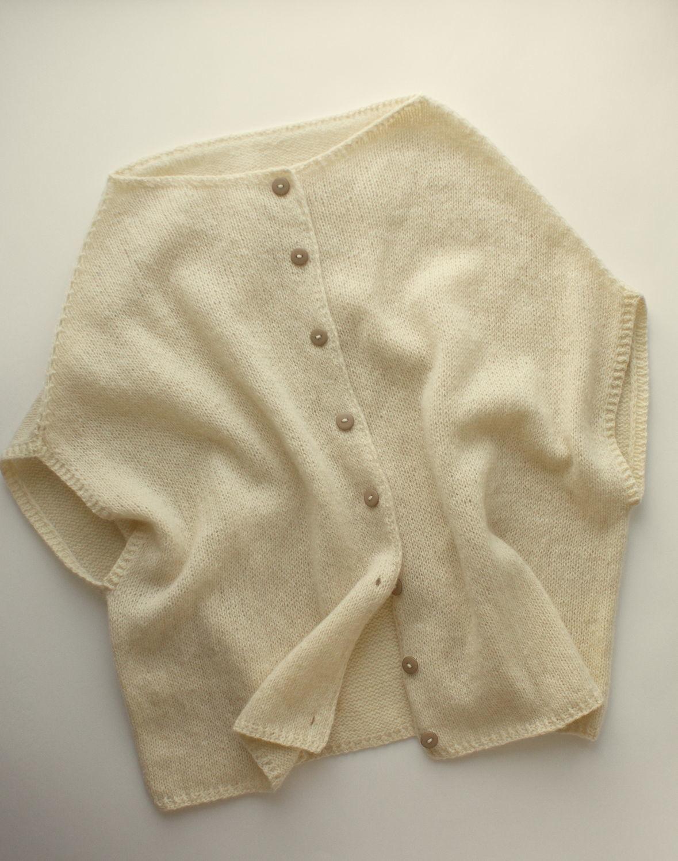 White knitted jacket 'Jacqueline', vest, Jackets, Saratov,  Фото №1