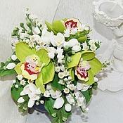 Свадебный салон ручной работы. Ярмарка Мастеров - ручная работа Букет цветов из полимернй глины. Handmade.