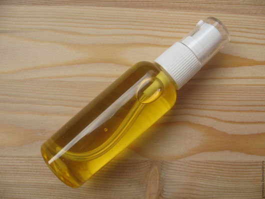Для снятия макияжа ручной работы. Ярмарка Мастеров - ручная работа. Купить Гидрофильное масло для зрелой кожи. Handmade. Желтый