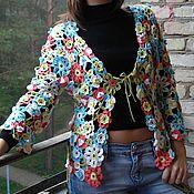 """Одежда ручной работы. Ярмарка Мастеров - ручная работа Кофточка """"Цветочная радуга"""". Handmade."""