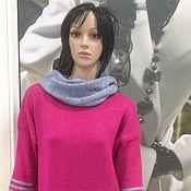 Одежда ручной работы. Ярмарка Мастеров - ручная работа Платье вязаное малиновое. Handmade.