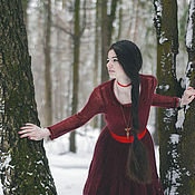 """Одежда ручной работы. Ярмарка Мастеров - ручная работа Платье """"Зимняя вишня-2"""". Handmade."""