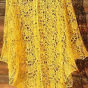 Аксессуары handmade. Livemaster - original item Flax summer shawl Sun embrace. Handmade.
