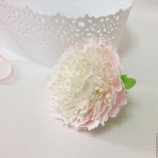 Свадебные цветы ручной работы. Ярмарка Мастеров - ручная работа. Купить Пион из фоамирана. Цветы для свадебного букета. Белый.. Handmade.