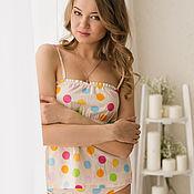 Одежда handmade. Livemaster - original item Pajamas: Top and slips. Handmade.