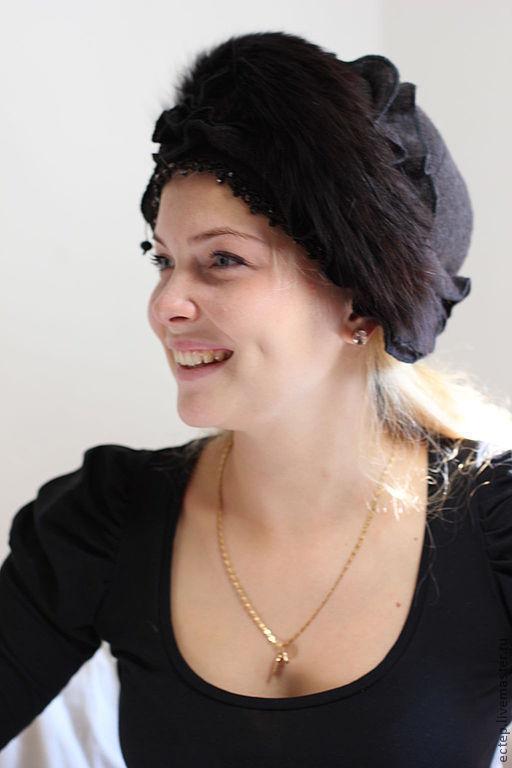 Шляпы ручной работы. Ярмарка Мастеров - ручная работа. Купить (Арт.7792) Шляпка с мехом  песца. Handmade. Меховая шапка