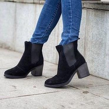 Обувь ручной работы. Ярмарка Мастеров - ручная работа Женские челси на каблуке. Handmade.