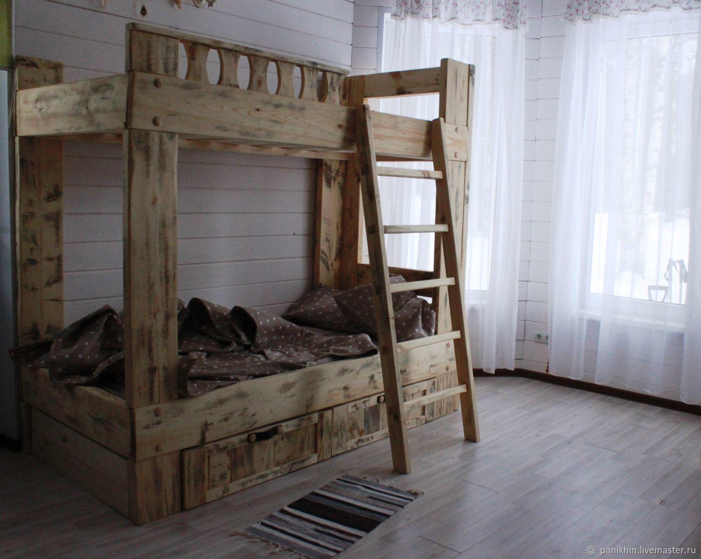 территории фото двухъярусной кровати ручной работы из массива собрали пять самых