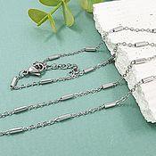 Материалы для творчества handmade. Livemaster - original item Chain with lock ready 45 cm steel (5630). Handmade.