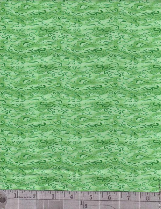 Шитье ручной работы. Ярмарка Мастеров - ручная работа. Купить 1200 Американская ткань. Handmade. Салатовый, ткань с рисунком, ткань