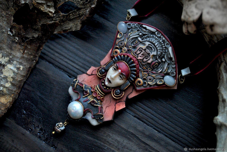 """Колье """" Ish Tab"""" скульптурная миниатюра – заказать на Ярмарке Мастеров – F5DPXRU   Колье, Владимир"""