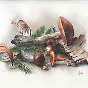 Картины и панно ручной работы. Ярмарка Мастеров - ручная работа Дары леса. Handmade.