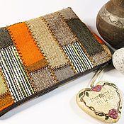 Косметички ручной работы. Ярмарка Мастеров - ручная работа Косметичка текстильная, косметичка пэчворк, средняя (47). Handmade.