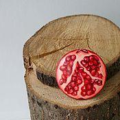 handmade. Livemaster - original item Brooch Garnet. Wooden brooch handmade.. Handmade.