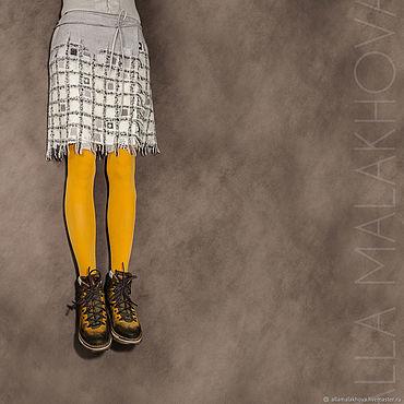 """Одежда ручной работы. Ярмарка Мастеров - ручная работа Валяная юбка """"Игра в классики"""". Handmade."""