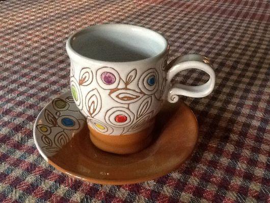 """Кружки и чашки ручной работы. Ярмарка Мастеров - ручная работа. Купить Чайная пара """"Весна"""". Handmade. Чашка, чашечка кофе"""
