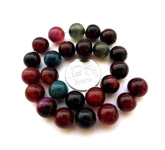 Для украшений ручной работы. Ярмарка Мастеров - ручная работа. Купить Агат 25 камней набор разноцветный бусины шар 10 мм гладкие. Handmade.