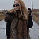 Vest with sleeves from fur of the black Fox (Color Black Gold). Vests. Zimma. Online shopping on My Livemaster.  Фото №2