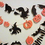 """Свадебный салон ручной работы. Ярмарка Мастеров - ручная работа Гирлянда """"Halloween"""". Handmade."""