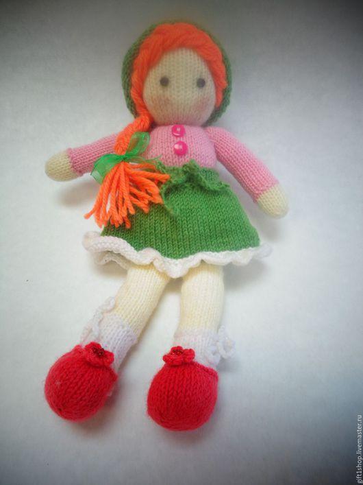 Человечки ручной работы. Ярмарка Мастеров - ручная работа. Купить кукла. Handmade. Салатовый, кукла вязанная, добрая игрушка, солнечная