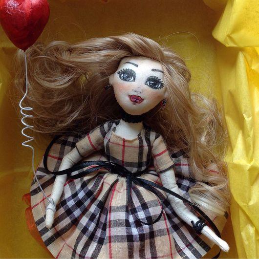 Коллекционные куклы ручной работы. Ярмарка Мастеров - ручная работа. Купить Текстильная кукла. Handmade. Бежевый, кукла текстильная
