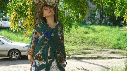 """Шали, палантины ручной работы. Ярмарка Мастеров - ручная работа. Купить Палантин """"Лунный цветок"""". Handmade. Тёмно-синий"""