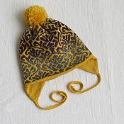 Работы для детей, ручной работы. Ярмарка Мастеров - ручная работа зимняя шапочка с жаккардом. Handmade.