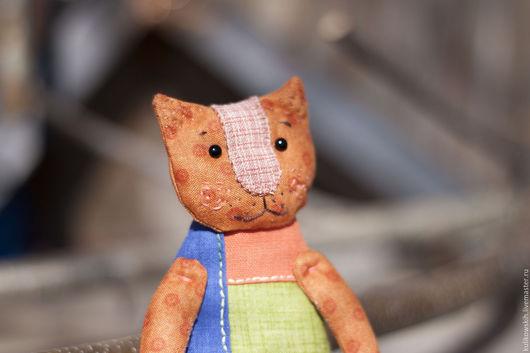 Коллекционные куклы ручной работы. Ярмарка Мастеров - ручная работа. Купить Кукла текстильная Котейка кармашковая. Handmade. Разноцветный, печворк