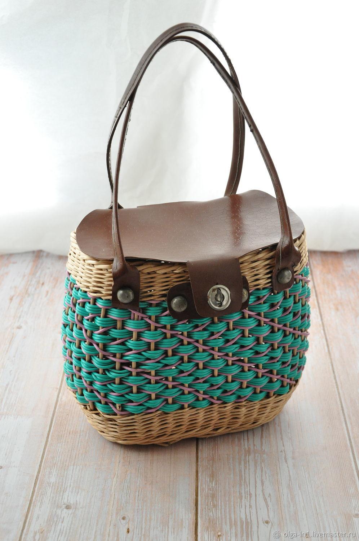Винтаж: Плетеная сумка – купить на Ярмарке Мастеров – MMSKARU | Сумки винтажные, Тверь