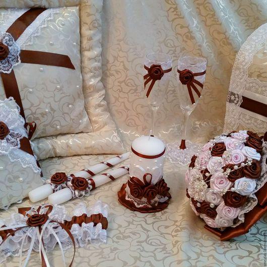 Свадебные аксессуары ручной работы. Ярмарка Мастеров - ручная работа. Купить Коллекция свадебных аксессуаров. Handmade. Коричневый, букет из брошей