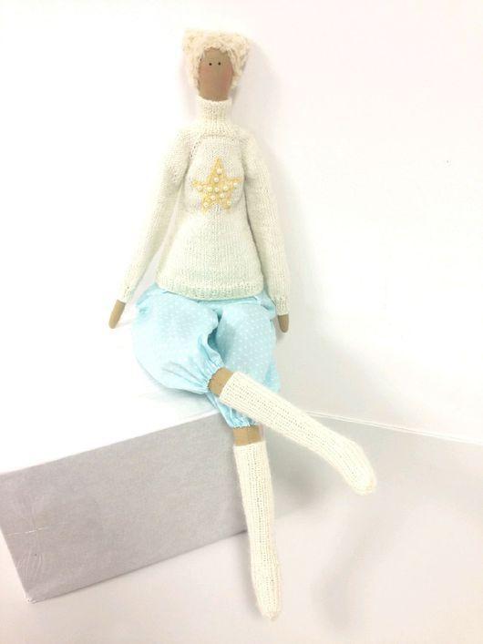 Куклы Тильды ручной работы. Ярмарка Мастеров - ручная работа. Купить Зимний ангел. Handmade. Тильда кукла, зимний ангел